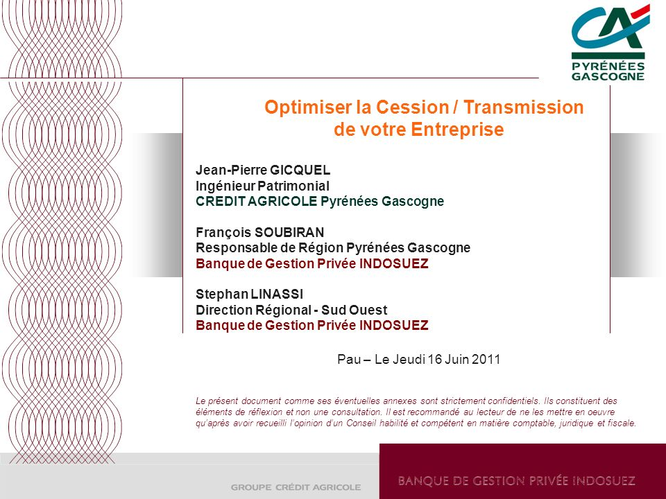 Optimiser la Cession / Transmission