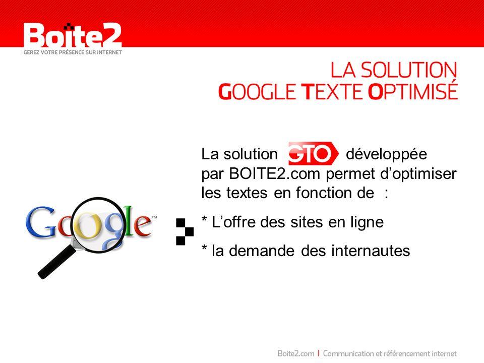 La solution développée par BOITE2