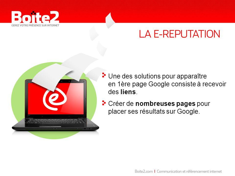 Une des solutions pour apparaître en 1ère page Google consiste à recevoir des liens.