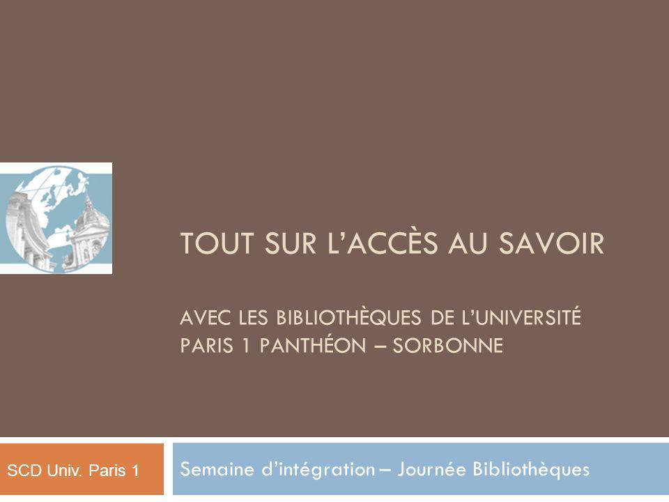 Semaine d'intégration – Journée Bibliothèques