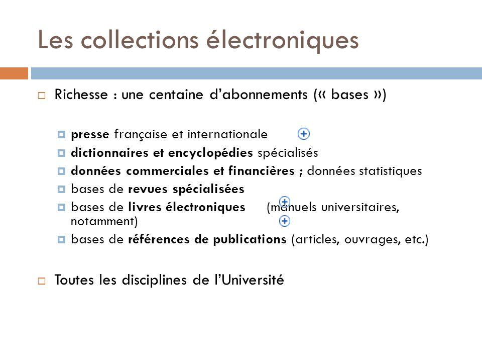 Les collections électroniques