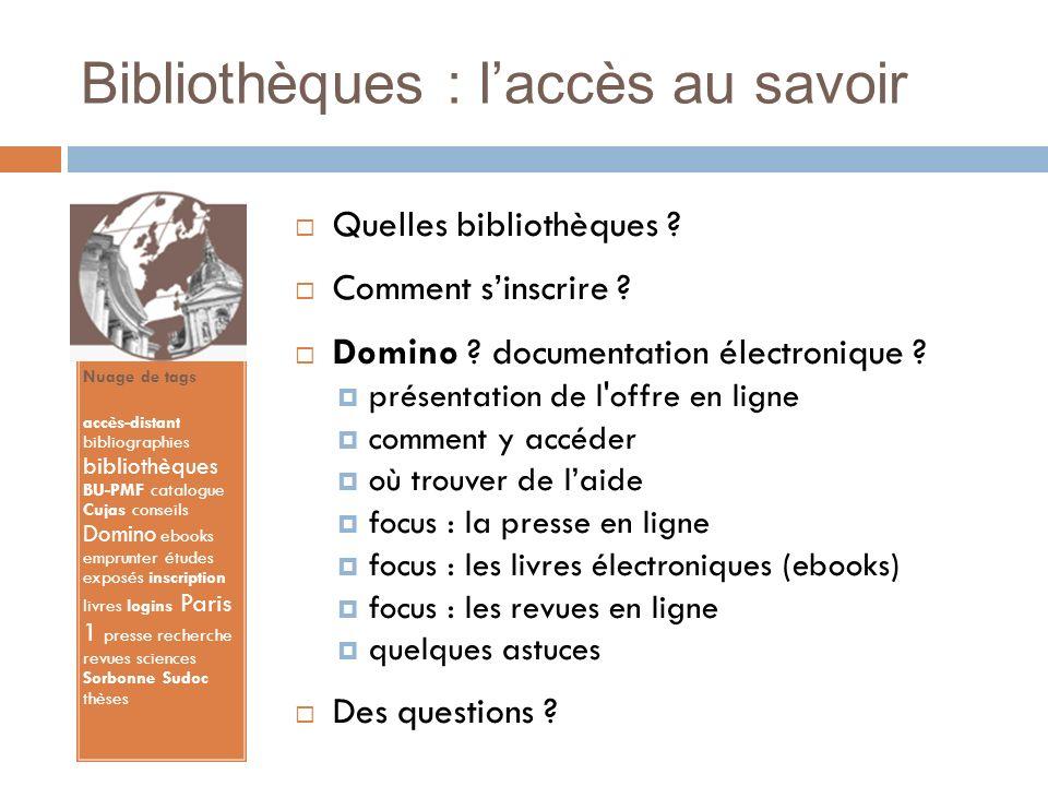 Bibliothèques : l'accès au savoir