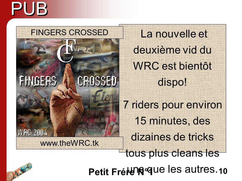 La nouvelle et deuxième vid du WRC est bientôt dispo!