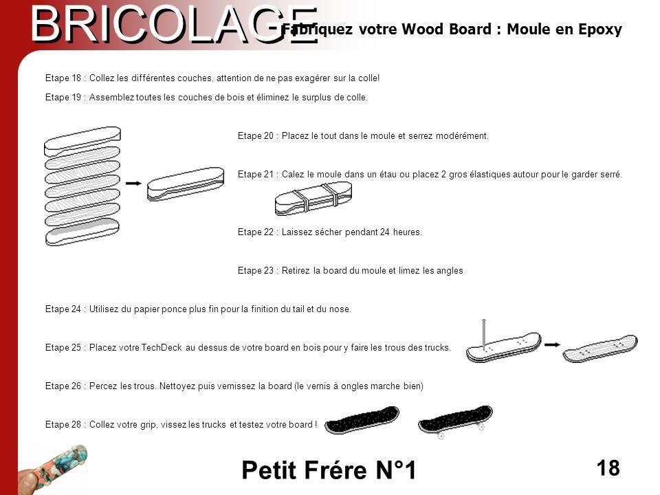 BRICOLAGE Fabriquez votre Wood Board : Moule en Epoxy