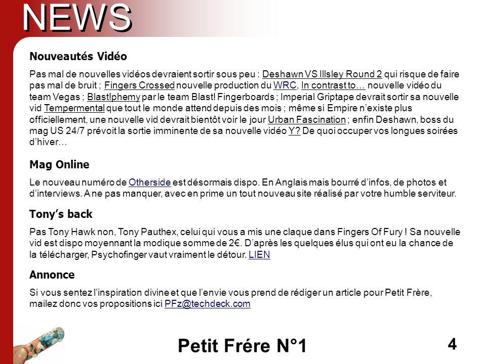 NEWS Nouveautés Vidéo Mag Online Tony's back Annonce