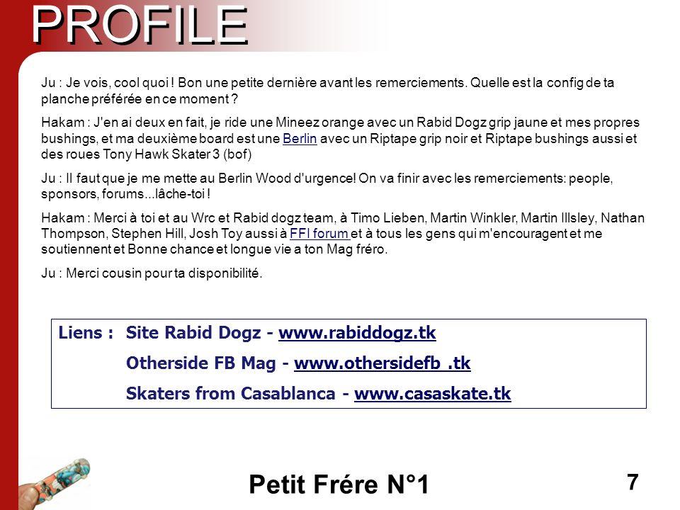 PROFILE Liens : Site Rabid Dogz - www.rabiddogz.tk