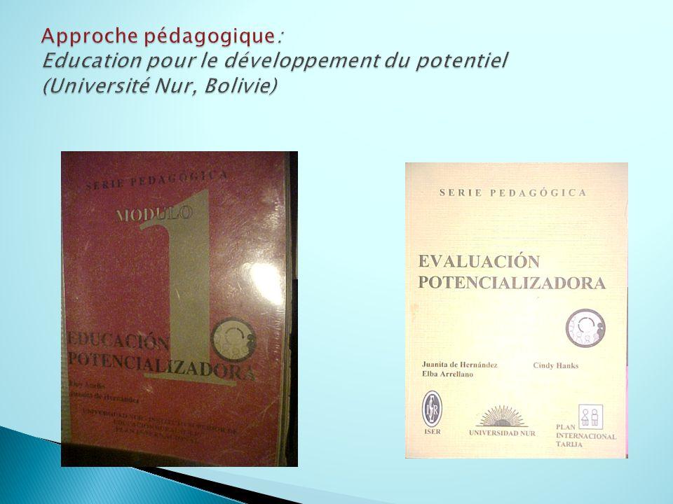 Approche pédagogique: Education pour le développement du potentiel (Université Nur, Bolivie)