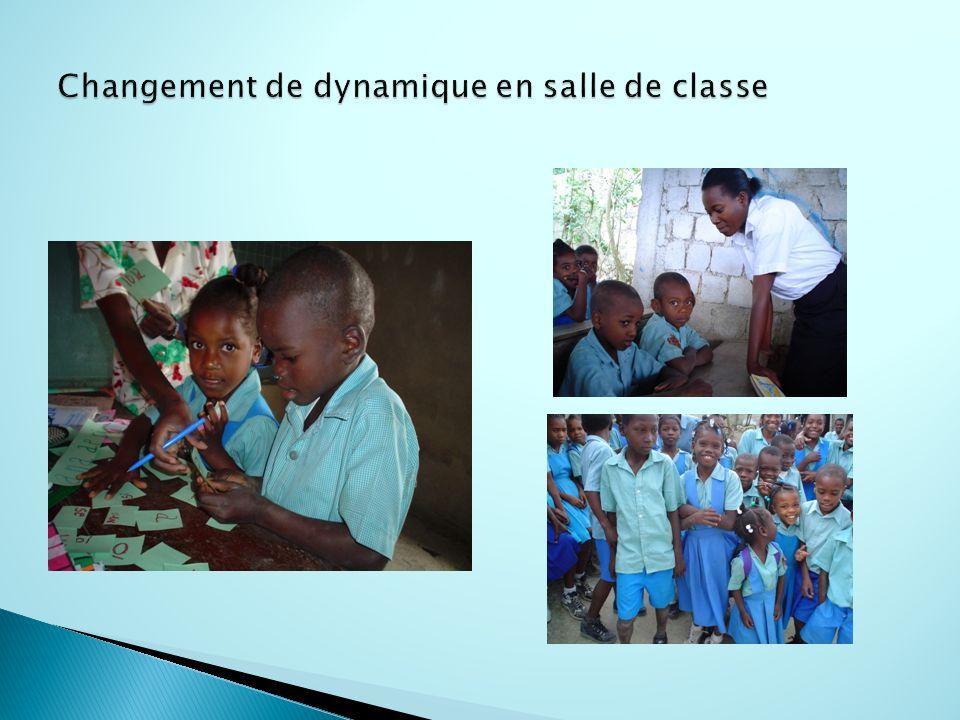 Changement de dynamique en salle de classe