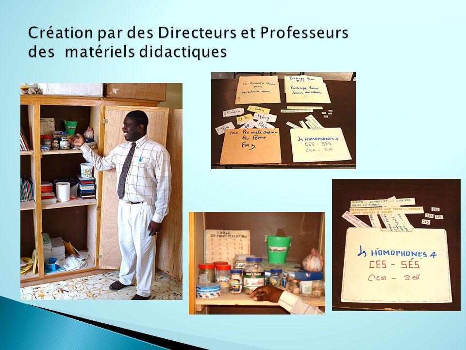 Création par des Directeurs et Professeurs des matériels didactiques