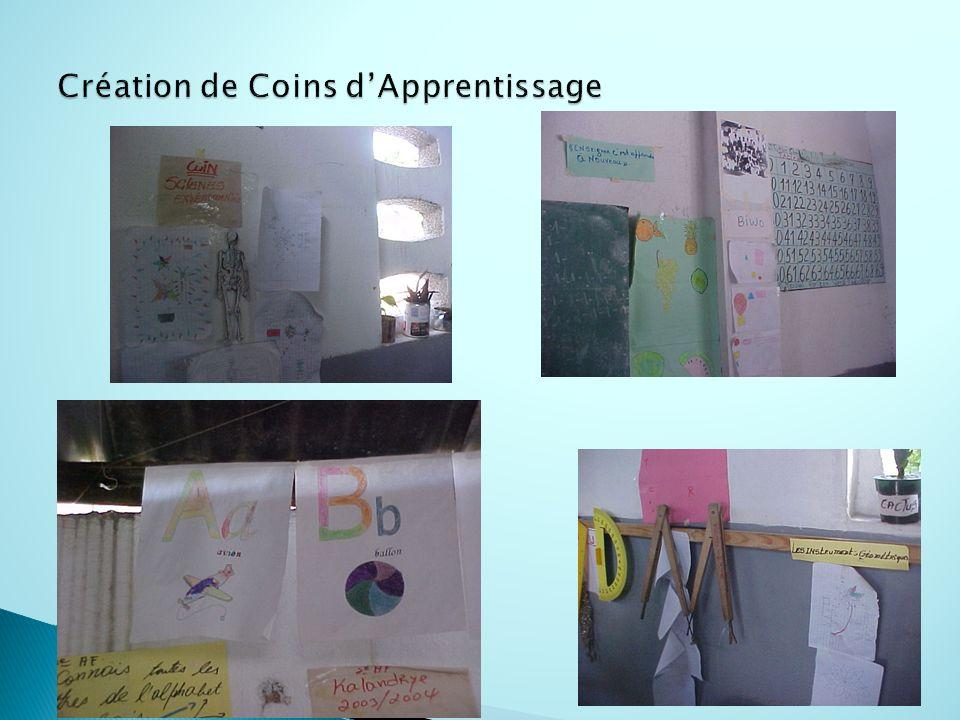 Création de Coins d'Apprentissage