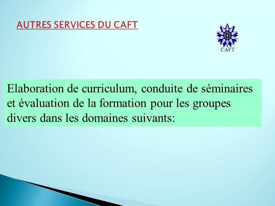 AUTRES SERVICES DU CAFT