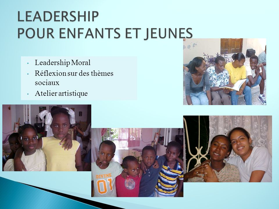 LEADERSHIP POUR ENFANTS ET JEUNES