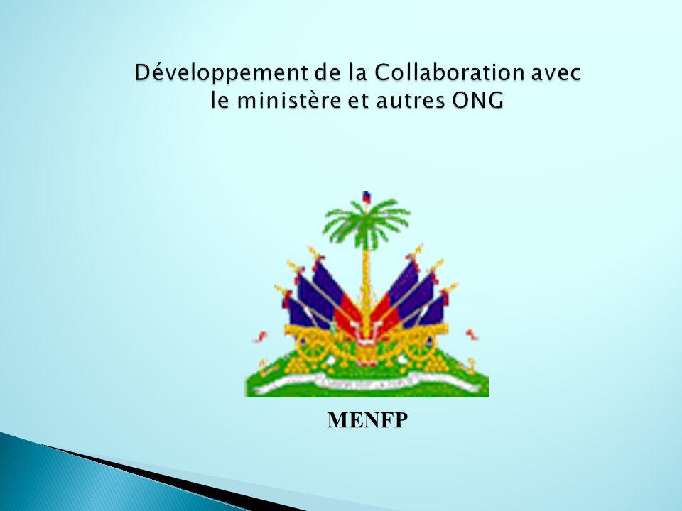 Développement de la Collaboration avec le ministère et autres ONG