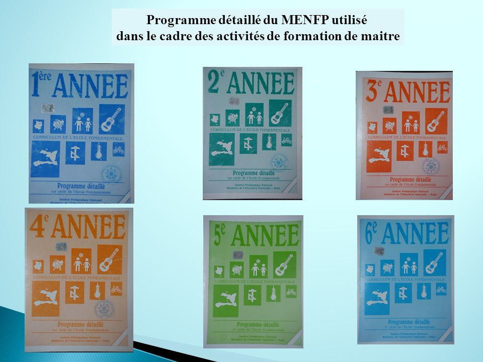 Programme détaillé du MENFP utilisé