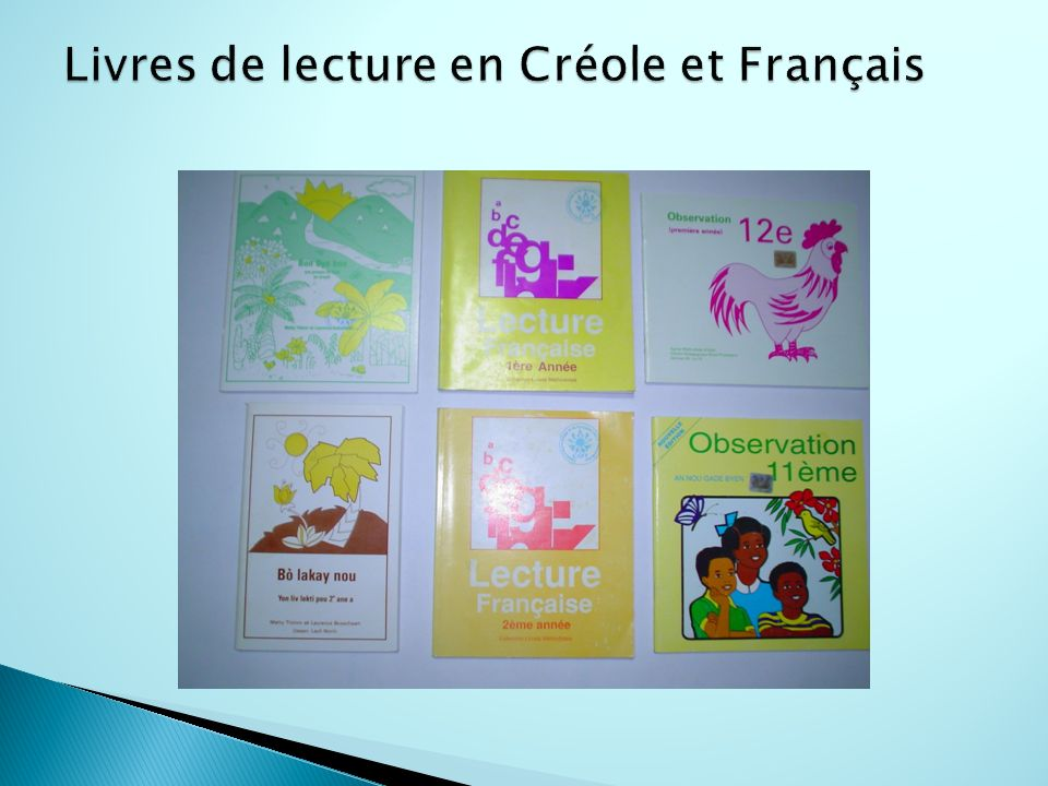 Livres de lecture en Créole et Français