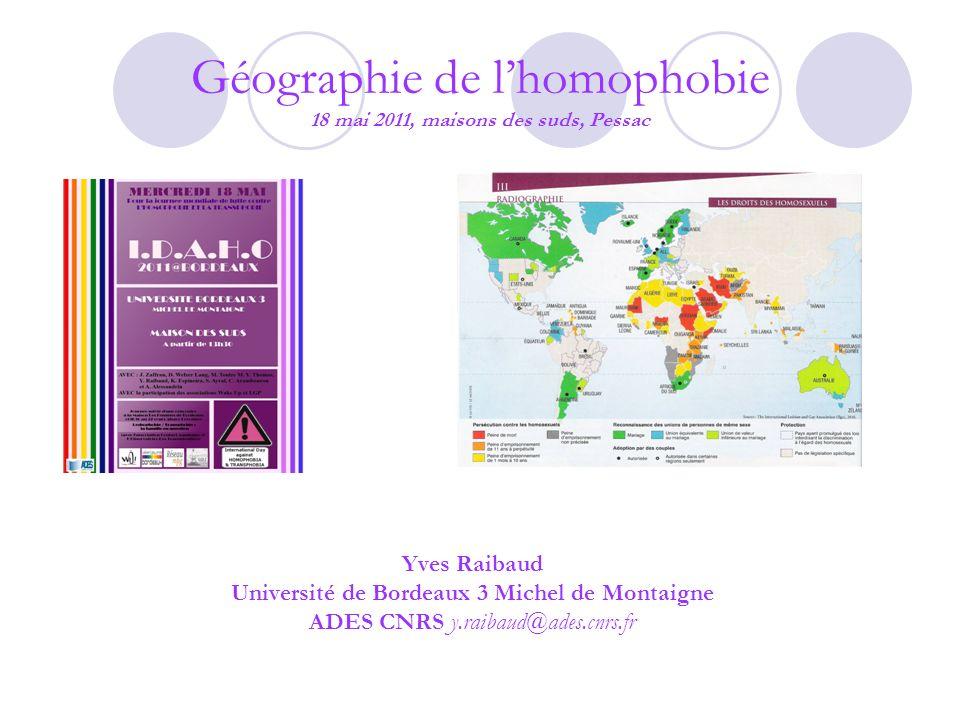 Géographie de l'homophobie 18 mai 2011, maisons des suds, Pessac