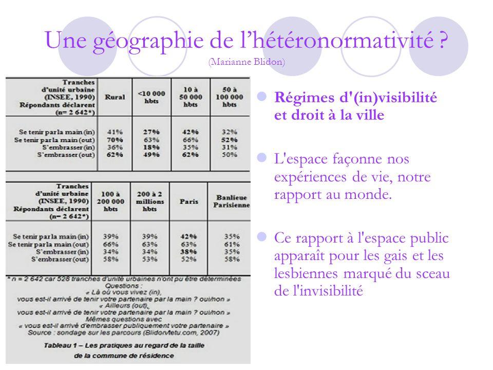 Une géographie de l'hétéronormativité (Marianne Blidon)