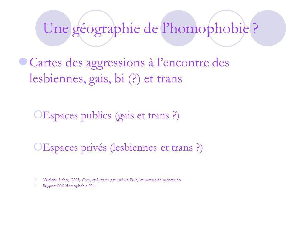 Une géographie de l'homophobie