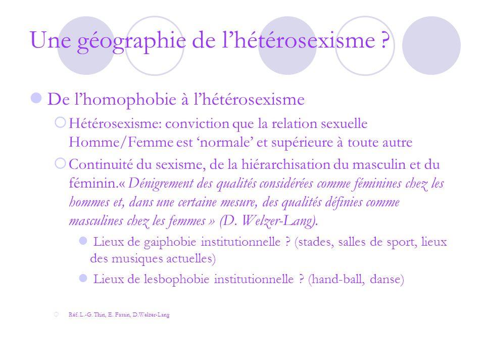 Une géographie de l'hétérosexisme