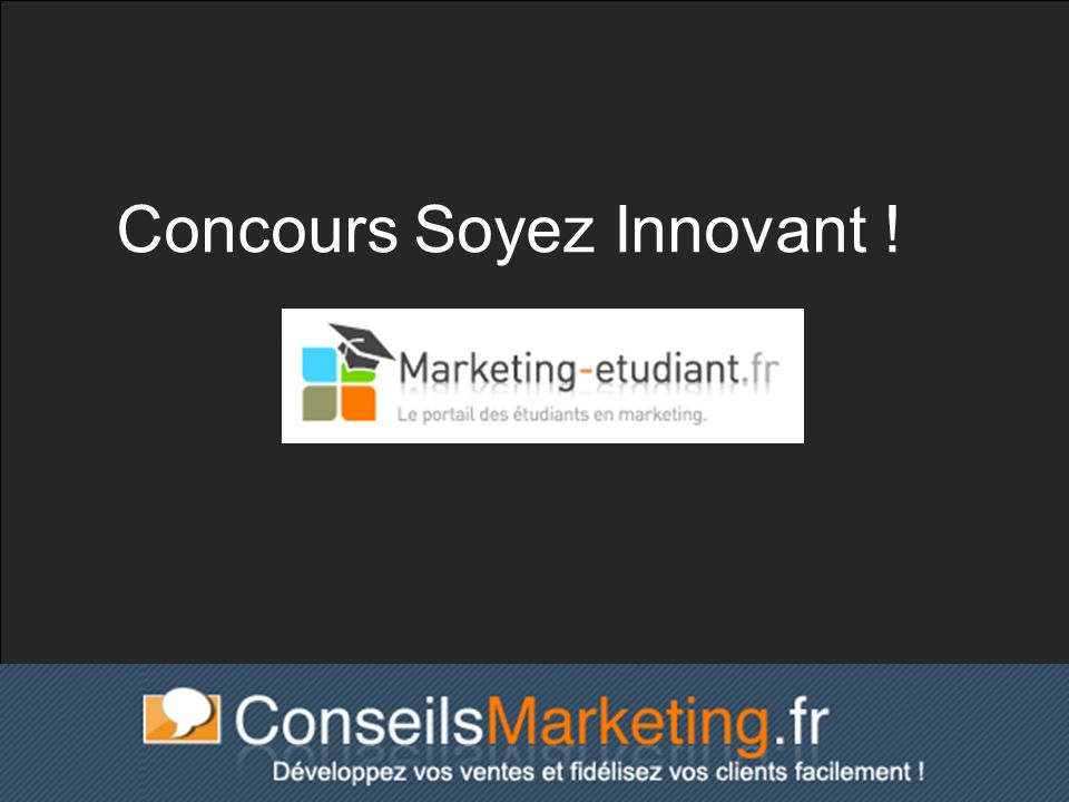 Concours Soyez Innovant !