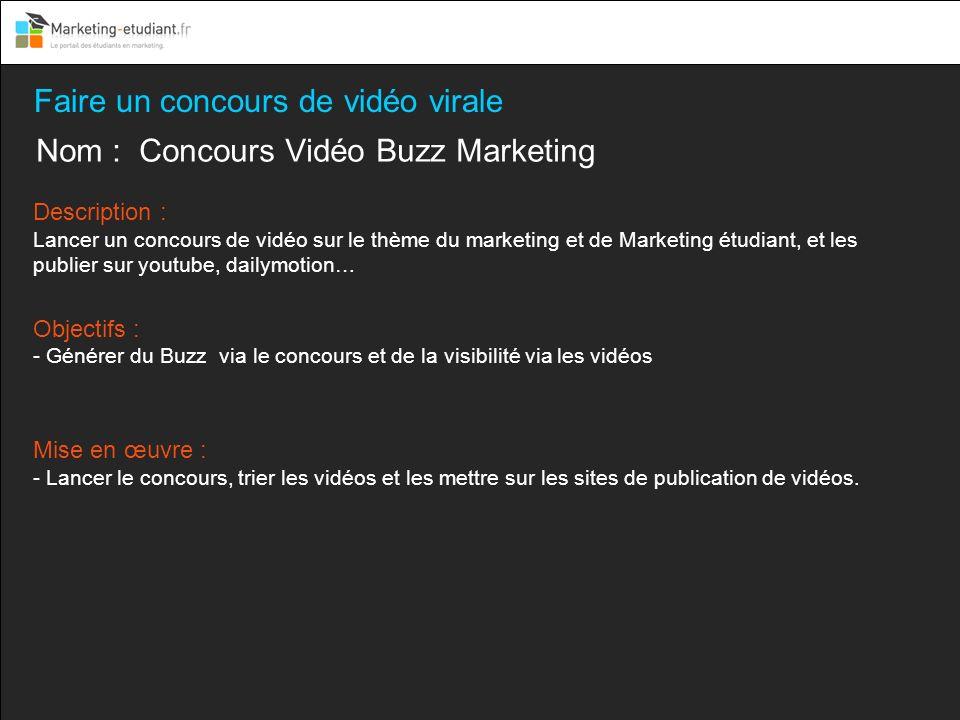 Faire un concours de vidéo virale