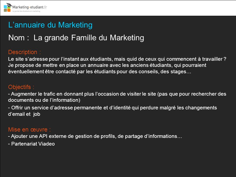 L'annuaire du Marketing