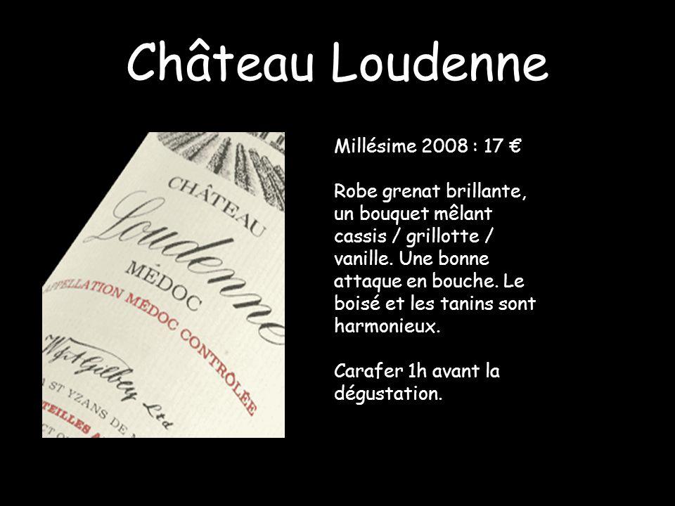 Château Loudenne Millésime 2008 : 17 €