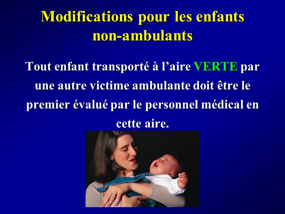 Modifications pour les enfants non-ambulants
