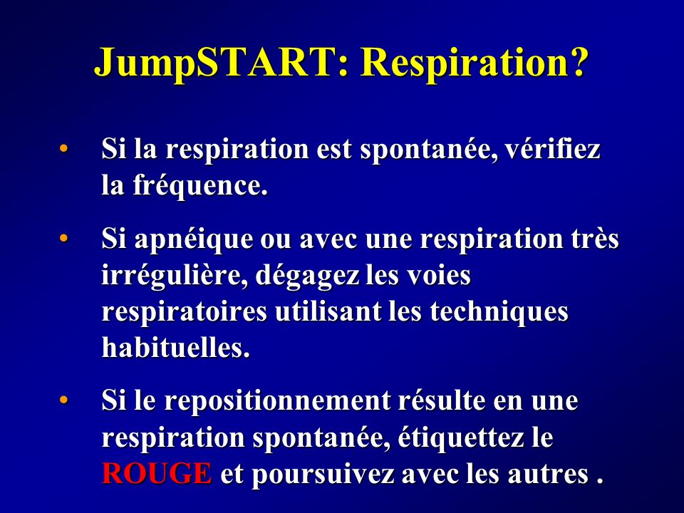 JumpSTART: Respiration