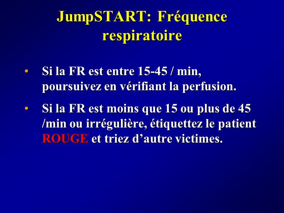 JumpSTART: Fréquence respiratoire