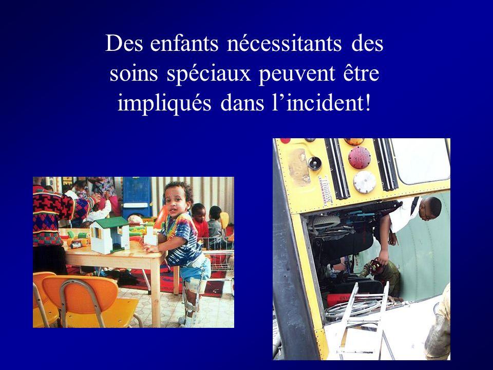 Des enfants nécessitants des soins spéciaux peuvent être impliqués dans l'incident!