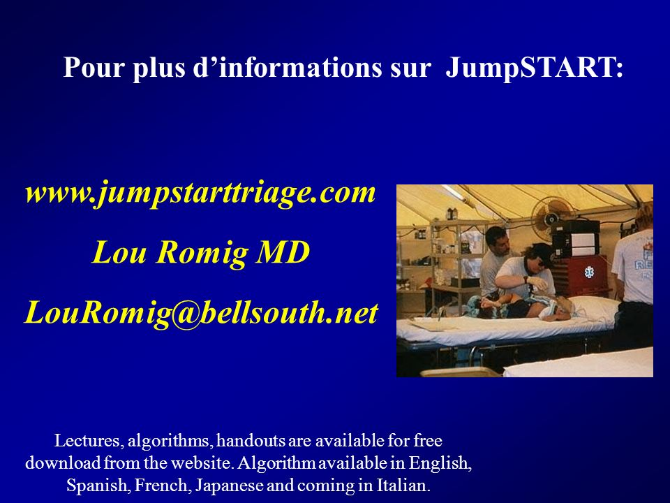 www.jumpstarttriage.com Lou Romig MD LouRomig@bellsouth.net