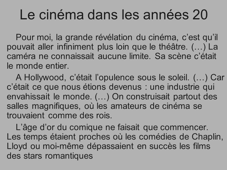 Le cinéma dans les années 20