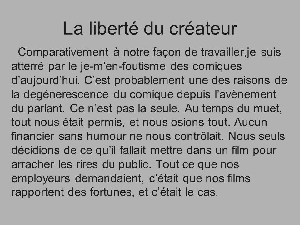 La liberté du créateur