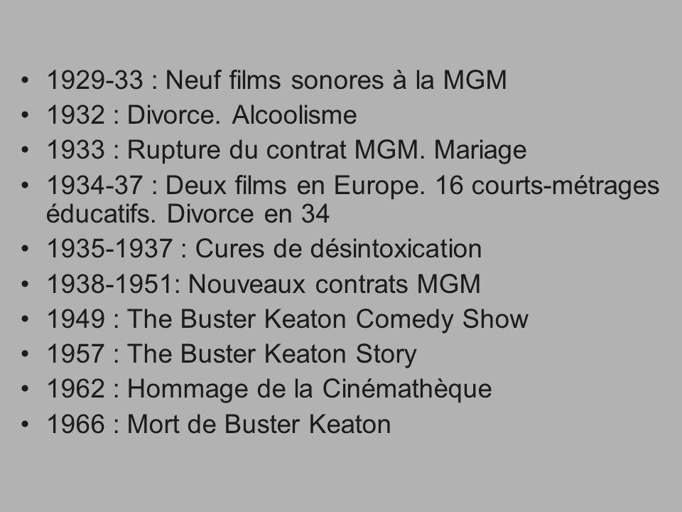 1929-33 : Neuf films sonores à la MGM