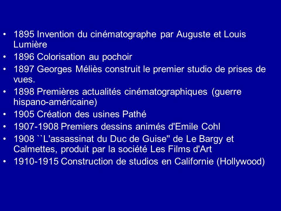 1895 Invention du cinématographe par Auguste et Louis Lumière