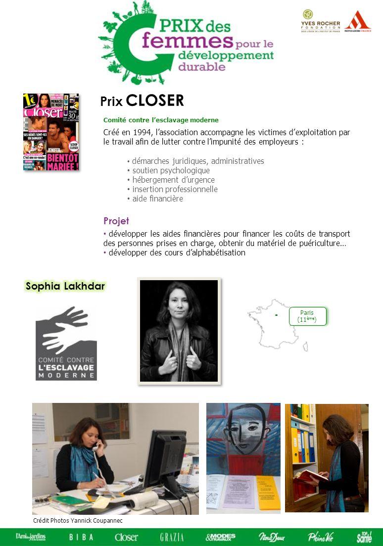 Prix CLOSER Sophia Lakhdar Projet