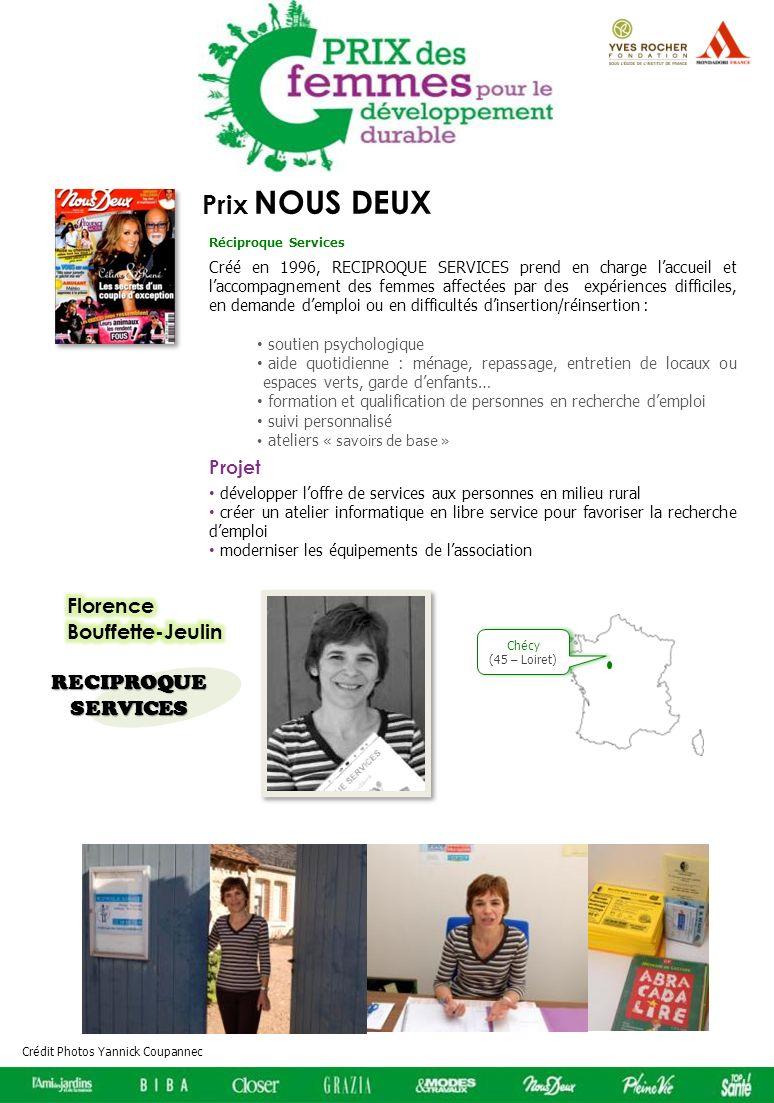 Prix NOUS DEUX Florence Bouffette-Jeulin RECIPROQUE SERVICES Projet