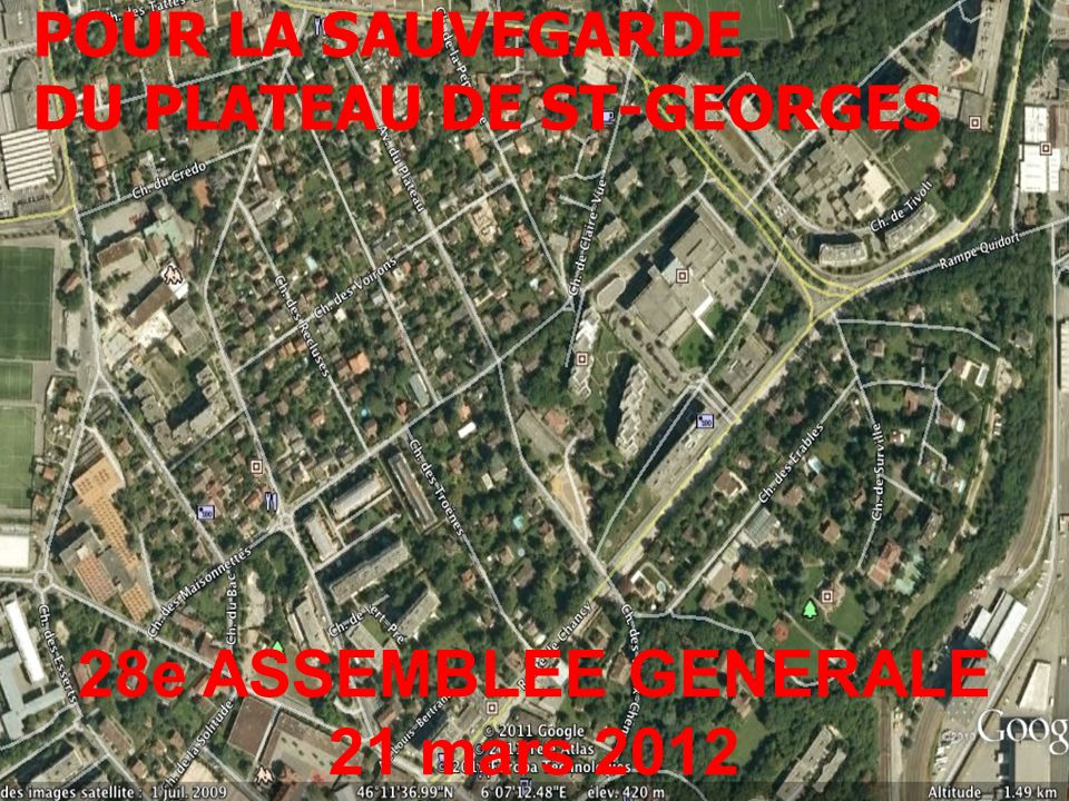 GROUPEMENT POUR LA SAUVEGARDE DU PLATEAU DE ST-GEORGES