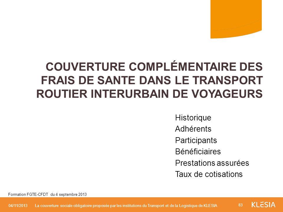 Couverture Complémentaire des FRAIS DE SANTE DANS LE TRANSPORT ROUTIER INTERURBAIN DE VOYAGEURS