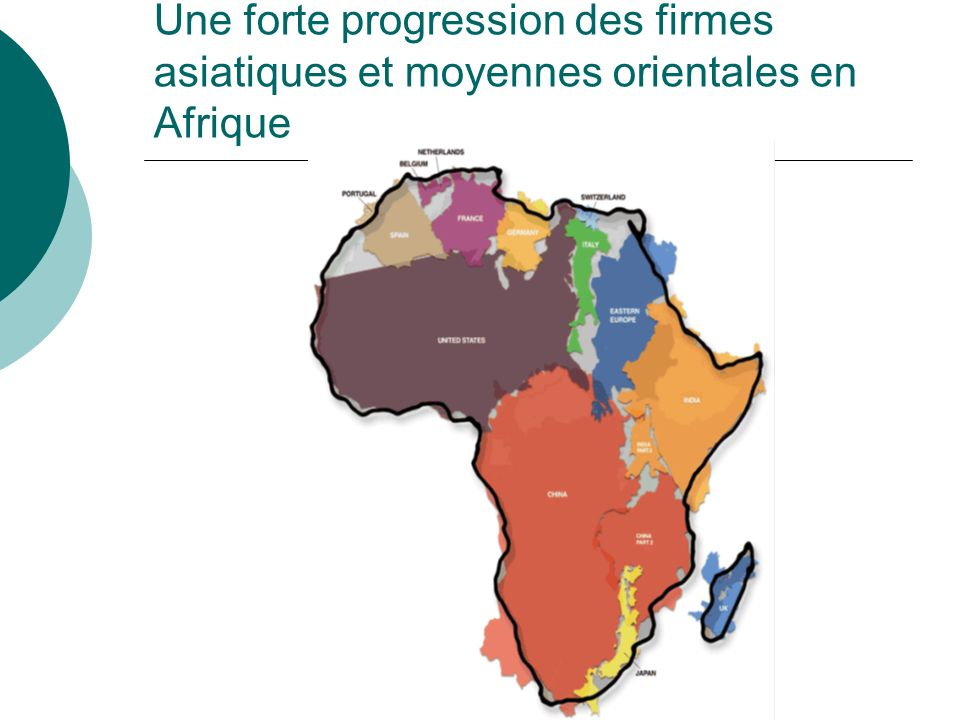 Une forte progression des firmes asiatiques et moyennes orientales en Afrique