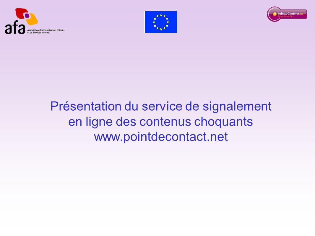 Présentation du service de signalement en ligne des contenus choquants www.pointdecontact.net