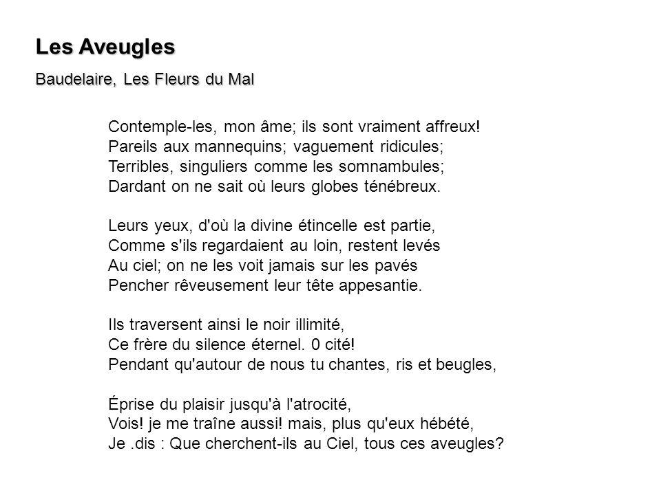 Les Aveugles Baudelaire, Les Fleurs du Mal