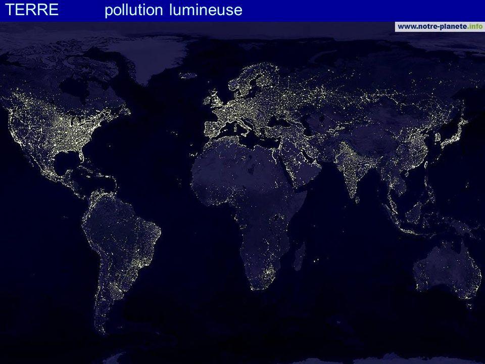 TERRE pollution lumineuse