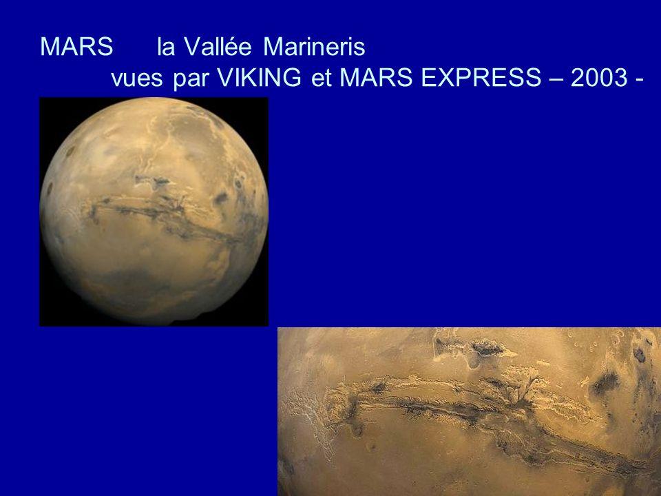 MARS la Vallée Marineris vues par VIKING et MARS EXPRESS – 2003 -