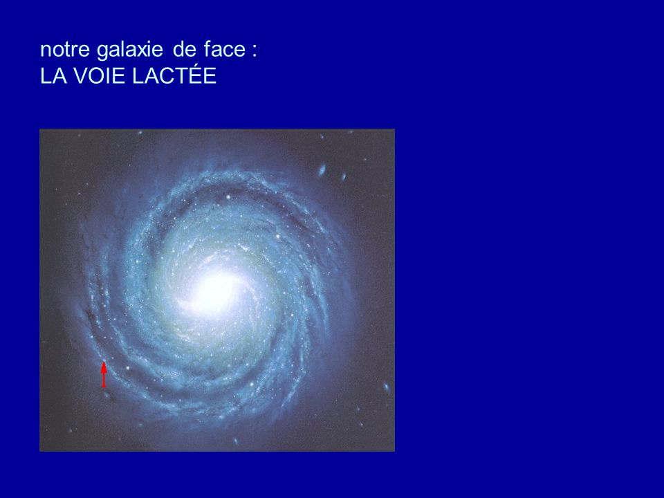 notre galaxie de face : LA VOIE LACTÉE