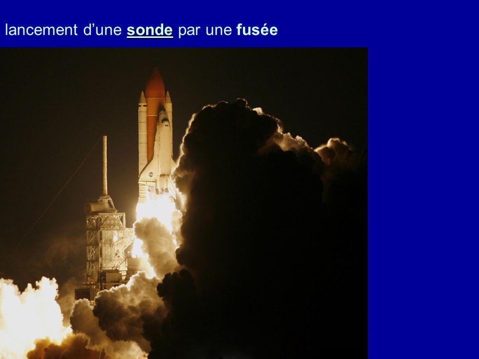 lancement d'une sonde par une fusée