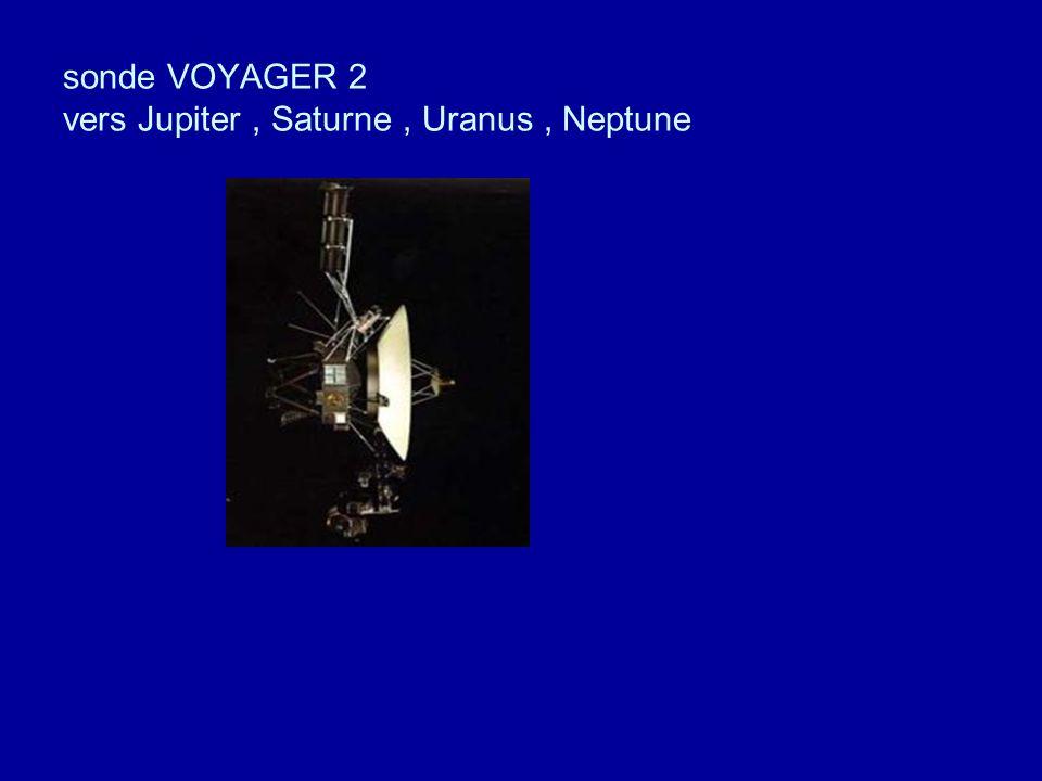 sonde VOYAGER 2 vers Jupiter , Saturne , Uranus , Neptune