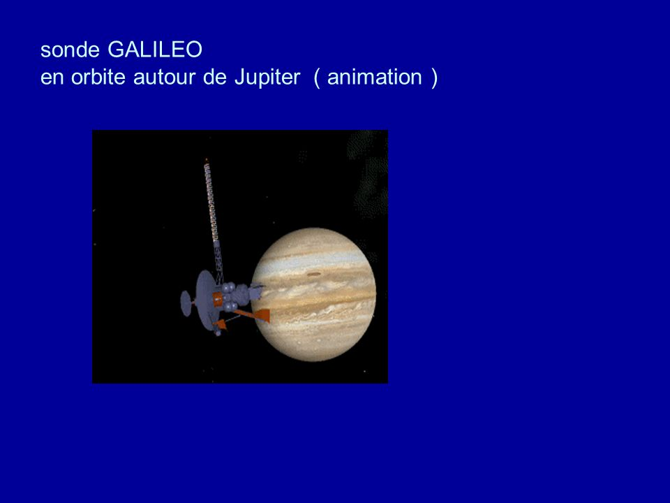 sonde GALILEO en orbite autour de Jupiter ( animation )