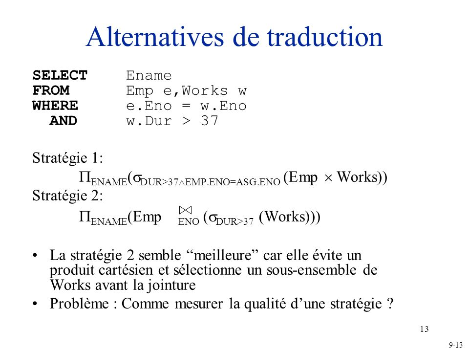 Alternatives de traduction